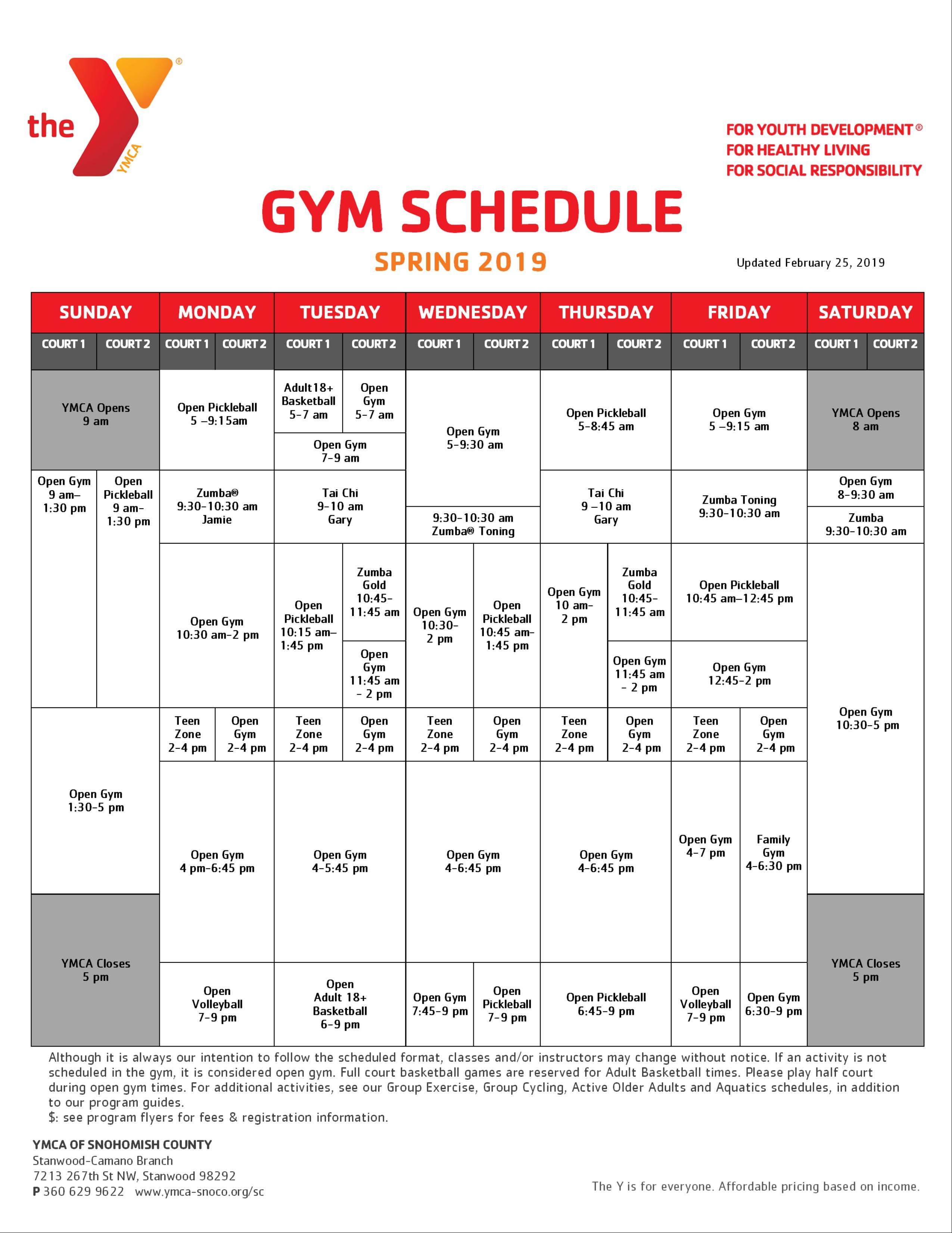 Schedules |